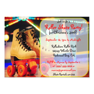 Custom Roller Skate Party Invites