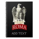 Custom Roman Eagle Spiral Notebook