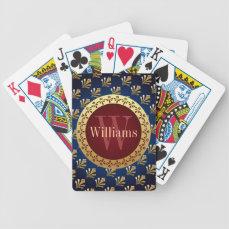 Custom Roman Monogram Bicycle Playing Cards