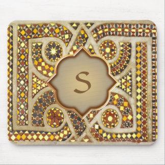 Custom Romanesque Monogram Mouse Pad