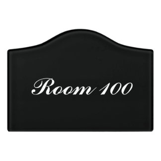 Custom room signs with your own number and color