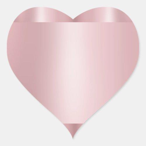 Custom Rose Gold Blank Template Modern Elegant Heart Sticker