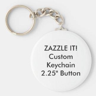 Custom Round Button Keychain Key Ring Blank