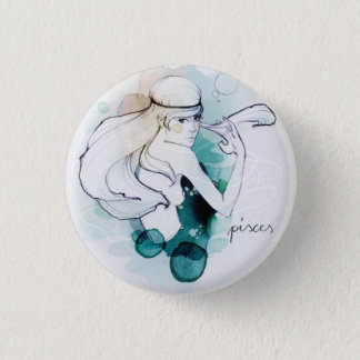 Custom round button/Pisces-woman image Button