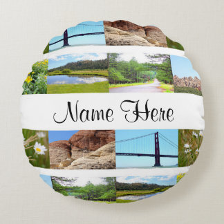 Custom Round Pillow (Add your own photo/text)