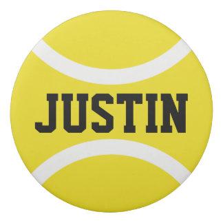 Custom round tennis eraser for kids Birthday party