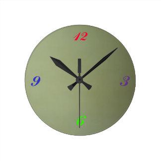Custom Round Wall Clock Vibrantly Printed