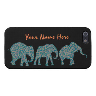 Custom Row of Paisley Elephants iPhone 5/5s Case