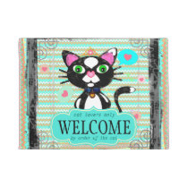Custom Royal Princess Cat Lover's Welcome Door Mat