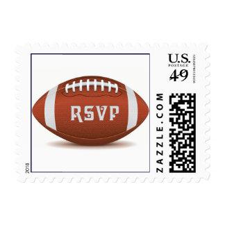 Custom RSVP design for football fan Postage
