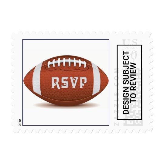 custom rsvp design for football fan postage zazzle com