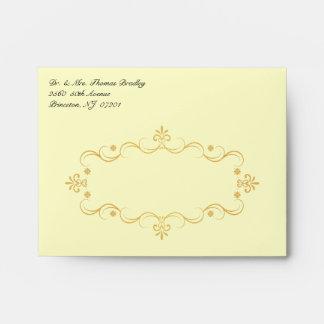 Custom RSVP Envelopes - Vintage Gold Buff