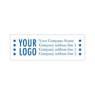 Custom Rubber Stamp Business Return Address Stars