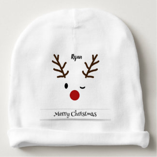 Custom Rudolph Baby Cotton Beanie