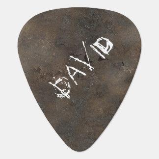 Custom Rusted Metal Look Guitar Pick