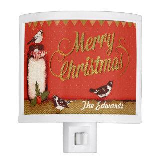 Custom Rustic Merry Christmas Mason Jar Light