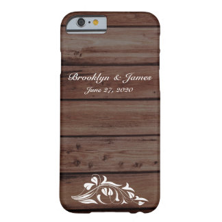 Custom Rustic Wedding iPhone 6 Cases Barely There iPhone 6 Case