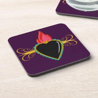 Custom Sacred Heart with Flourishes Coaster