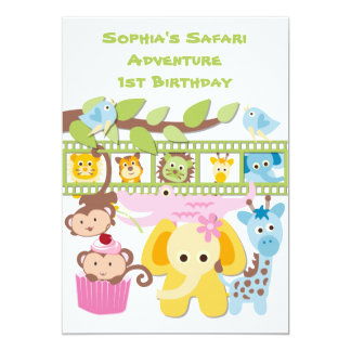 Custom Safari Adventure Birthday Invitation