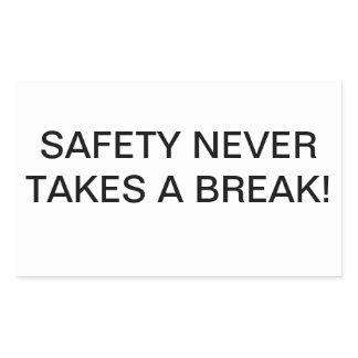 CUSTOM SAFETY-SLOGAN BRANDED STICKERS. RECTANGULAR STICKER