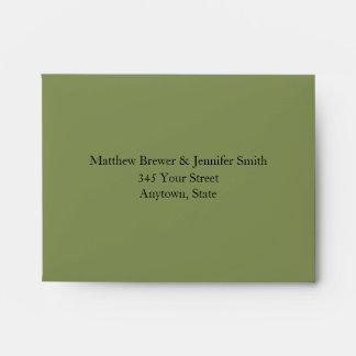 Custom Sage Green Celtic Knot Envelope w/ Address