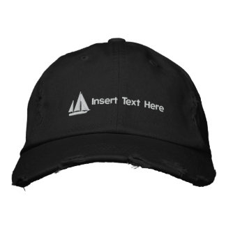 Custom Sailboat Embroidered Hat