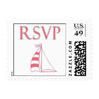 Custom sailboat rsvp postage