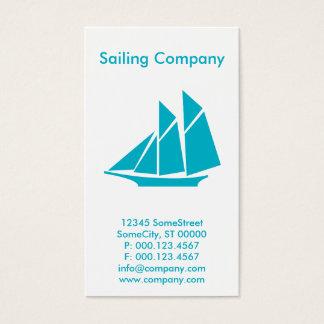 custom sailing company business card