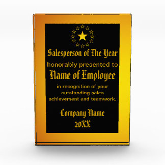 Custom Salesperson of The Year Award