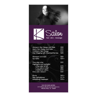 Custom Salon Rack Card