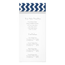 Custom Salon Rack Cards Blue Grey Chevron