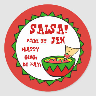 Custom Salsa Labels for Homemade Salsa Classic Round Sticker