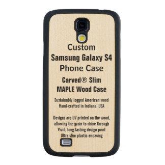 Custom Samsung Galaxy S4 Maple Wood Phone Case