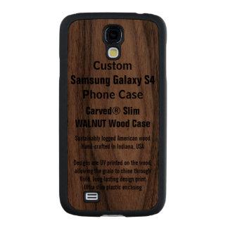 Custom Samsung Galaxy S4 Walnut Wood Phone Case
