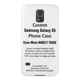 Custom Samsung Galaxy S5 Barely There Phone Case