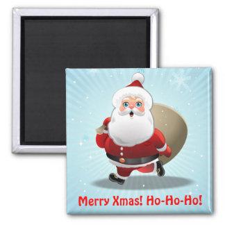 Custom Santa Claus 2 Inch Square Magnet