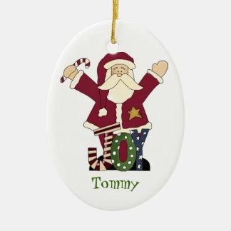 Custom Santa Claus ornament