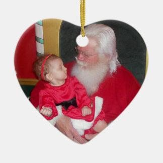 Custom Santa Express Heart Ornament