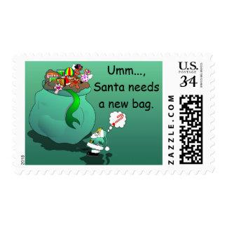 Custom Santa Needs a New Bag Postage