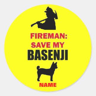 Custom Save My Basenji Stickers