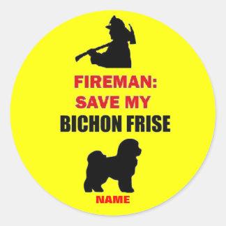 Custom Save My Bichon Frise Stickers