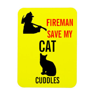 Custom Save My Cat Fire Safety Magnet