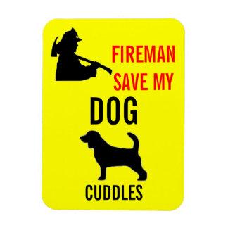 Custom Save My Dog Fire Safety Rectangular Photo Magnet