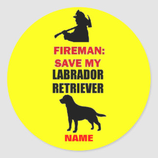 Custom Save My Labrador Retriever Round Stickers