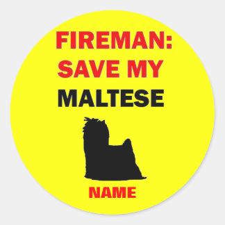 Custom Save My Maltese Stickers
