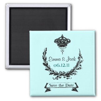CUSTOM Save the Date 2 Inch Square Magnet