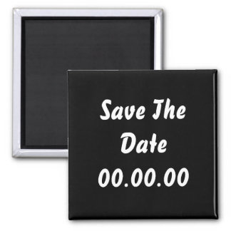 Custom, Save The Date. Black and White Refrigerator Magnets