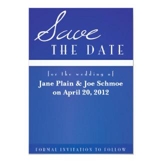 Custom Save the Date Card - Blue