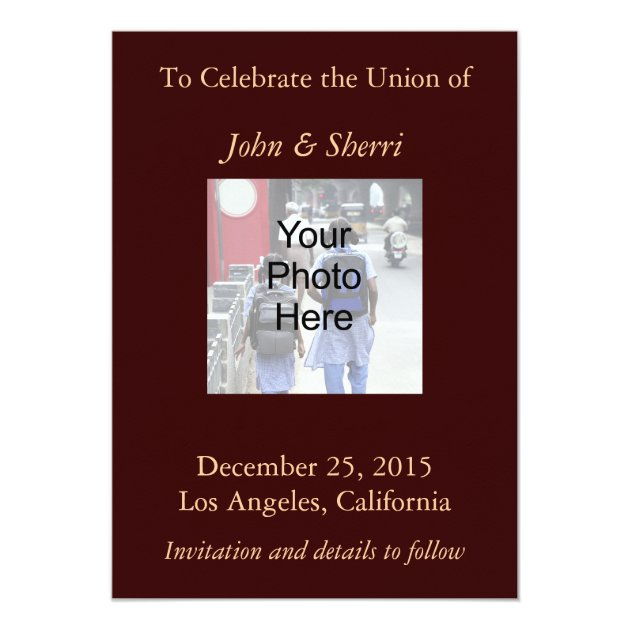 Save the date card online