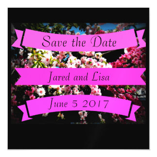 "Custom ""Save the Date"" Cherry Blossom Magnet"
